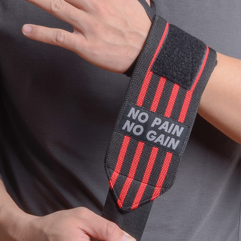 NO PAIN NO GAIN Wrist Wraps Sport Bandage Weight Lifting Gym Support 2 PCS bodybuilding Breathable Protective High Quality centaur no bow bandage 14x30