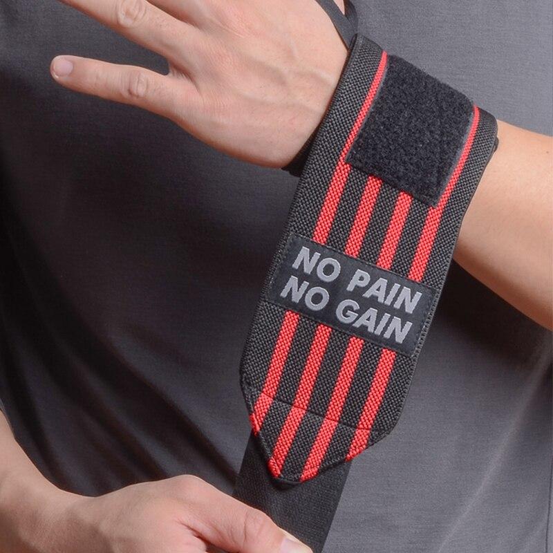 NO PAIN NO GAIN Handgelenk Wraps Sport Bandage Gewichtheben Gym Unterstützung 2 stücke bodybuilding Atmungsaktive Schutzhülle Hohe Qualität