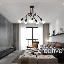 Горячая винтажная промышленная Лофт люстра потолочный светильник с 5 огнями(черный) лампы не включены