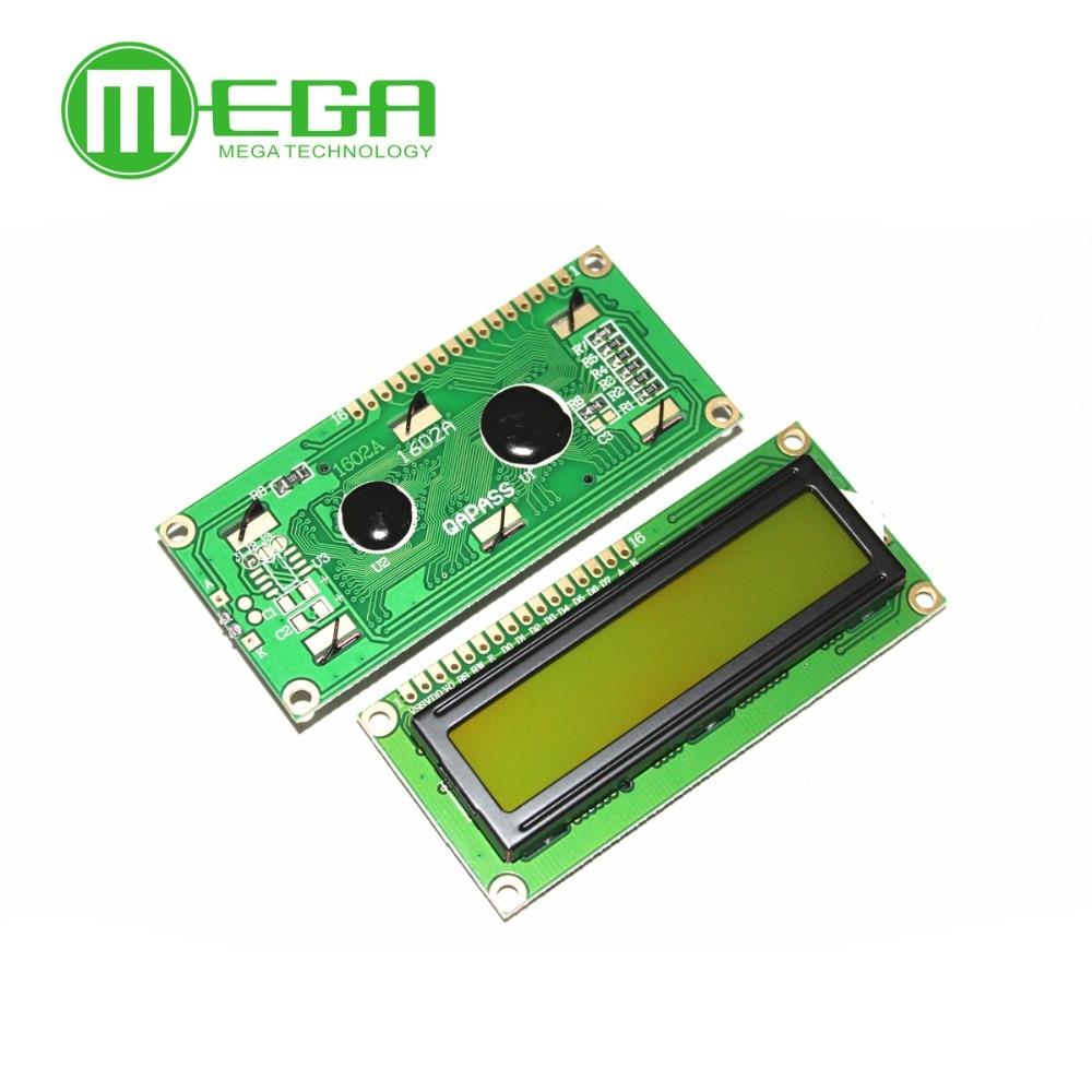 F202 1pcs, New 1602 LCD Display Module , LCD 16x2, Yellow Green Screen Backlight , 5V