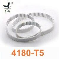 2pc T5 Belt 4180 T5 timing belt teeth 836 width 25mm length 4180mm white Polyurethane with steel core closed loop belt 4180 T5