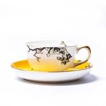 Кружка чайного набора кофейная чашка и блюдце бытовой свадебный подарок