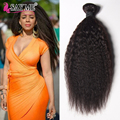 Cheap 6A Mongolian Virgin Afro Kinky Straight Weave Human Hair 1B Unprocessed Kinky Coarse Yaki Hair Italian Yaki Bundles 3 Pcs