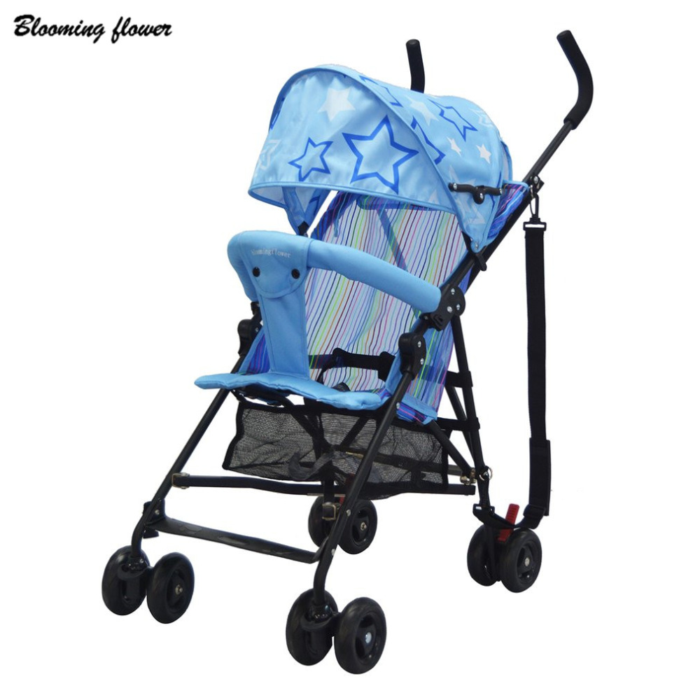 Blooming Flower Travel Baby Stroller with Umbrella Portable Metal Nylon Folding Baby Stroller Ultra Lightweight Pram Hot! hot selling baby stroller ultra spring shock absorption baby pram sgs was approved