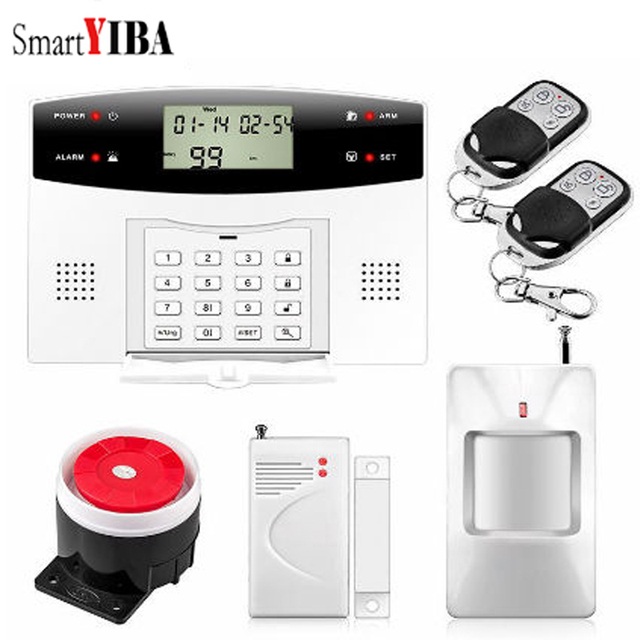 Cheap SmartYIBA Russian French Spanish Portuguese Italian Polish Czech Voice Wireless Wire GSM SMS Home Security Alarm Intercom System