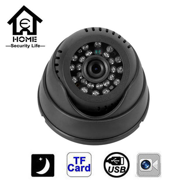 CCTV Camera 420TVL Night Vision 24 IR LED Micro TF SD Card Recording Dome Security Camera All on one Home Security System