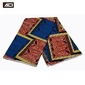 ACI Patchwork Tissu Fabric African Super Wax 2018 New Arrivals Ankara Fabric Super Wax Hollandais 6 Yards/Piece For Women Dress