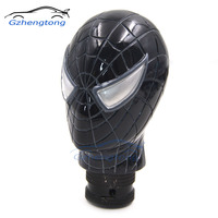 Carved Spider Man Universal Fit Car Auto Gear Stick Shift Lever Knob Black Car Accessories