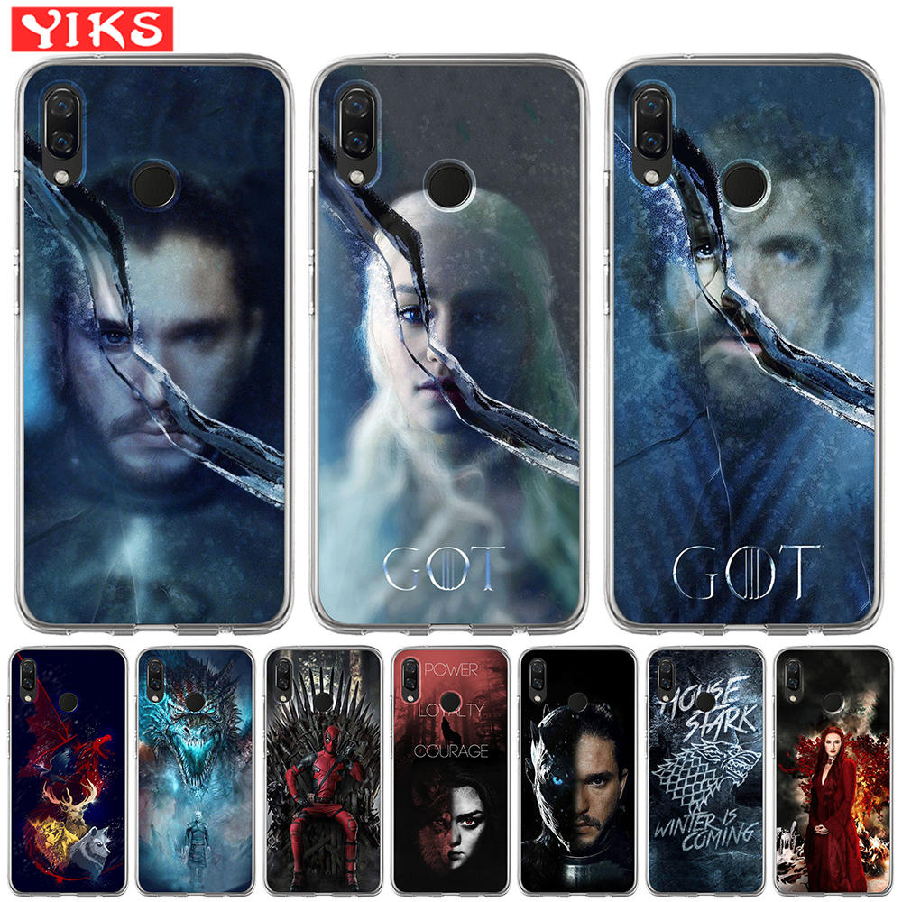 Game Thrones Got Silicone Phone Case For Huawei Nova 4e 3e 3 3i 2 Plus Y5 Y6 II Y3 Y7 2017 Y6 Prime 2018 Soft TPU Cover Etui image