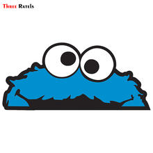Three Ratels ALWW203# 20x9cm love eating cookie Peeking monster  colorful car sticker funny car stickers styling removable decal