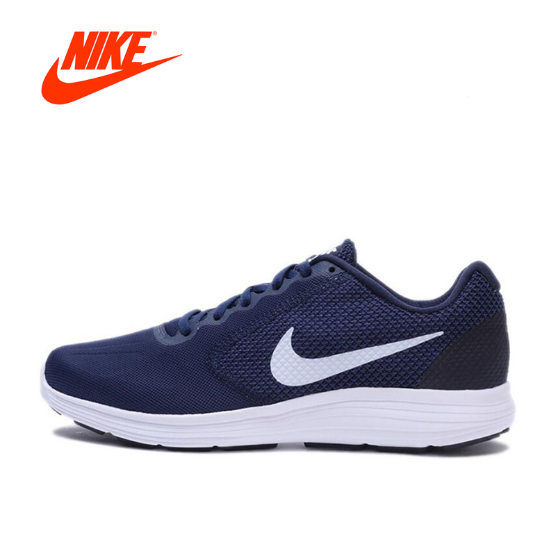 Original New Arrival Official Nike REVOLUTION 3 Breathable Men's Running Shoes Sports Sneakers Outdoor Walking Jogging Athletic adidas original new arrival official neo women s knitted pants breathable elatstic waist sportswear bs4904
