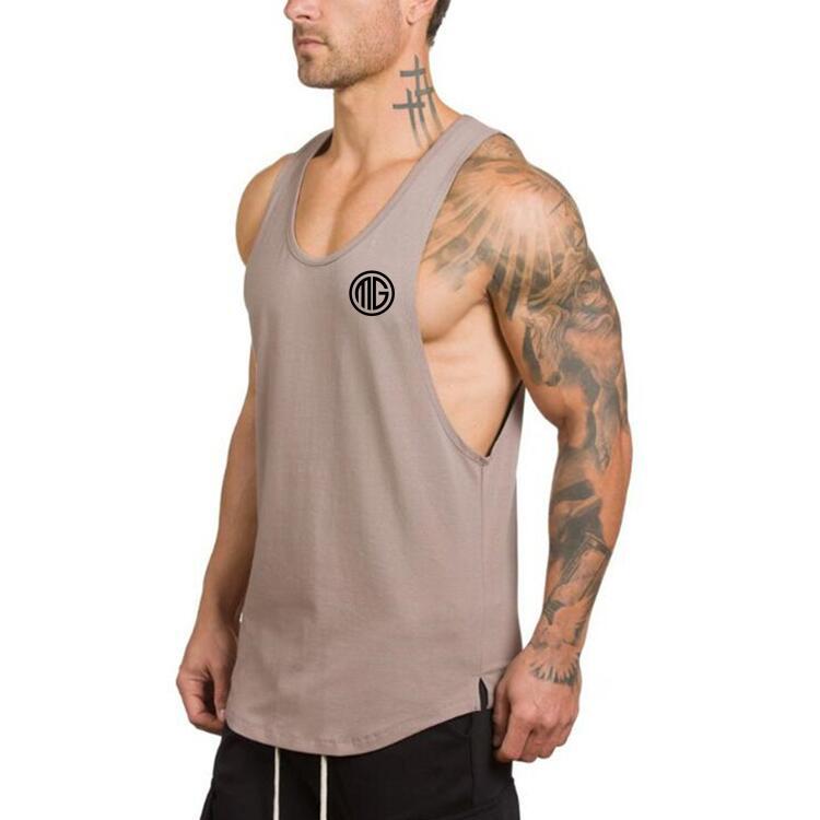 Brand clothing Men's   Tank     Tops   Low Cut Armholes Vest Sexy Men's   Tank   Xman Muscle Man's Fitness bodybuilding Stringer