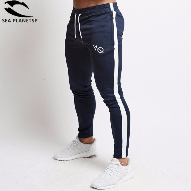f58b37f58a1a04 Vanquish Mens Joggers Casual Pants Fitness Men Sportswear Tracksuit Bottoms  Skinny Sweatpants Trousers Gyms Jogger Track