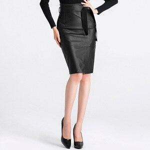 Image 4 - 3XL 4XL Pu Lederen Rok Vrouwen Plus Size Herfst Winter Sexy Hoge Taille Faux Leather Rokken Womens Belted Mode Potlood rok