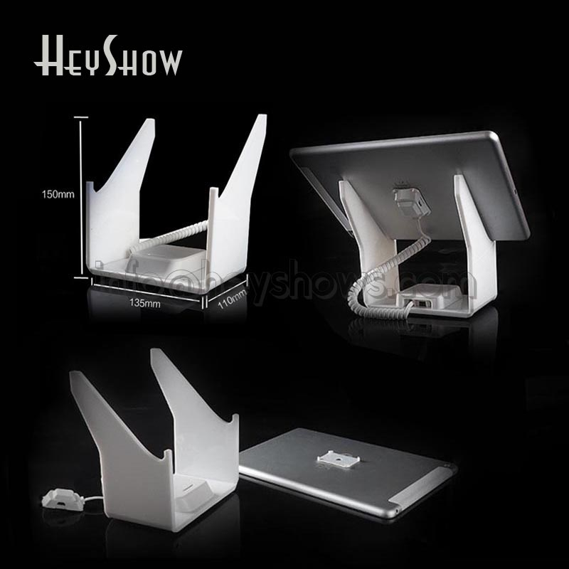 Tablet anti theft display stand Ipad security holder andriod charging tablet burglar alarm mount lock for retail mobile phone security stand tablet display alarm laptop burglar alarm ipad lock sensors holder retail pc anti theft device