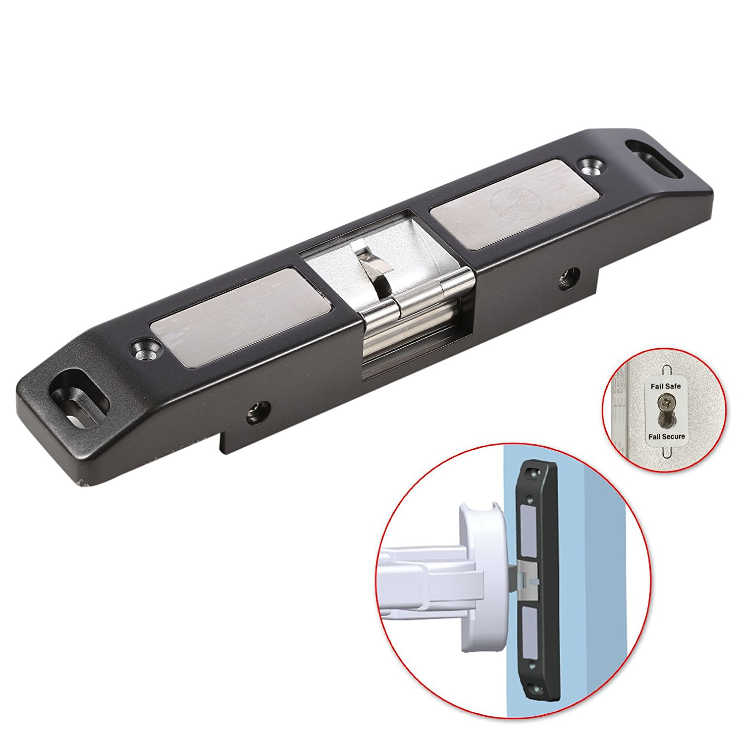 Electric Strike Lock NC/NO Mode For Push Bar Rod Fire Exit Device Emergency Door Access Control