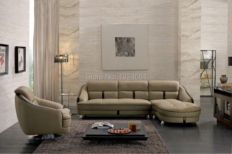 2016 Bean Bag Chaise Sale Muebles Bolsa Real Modern <font><b>Loveseat</b></font> Italian Style Leather Corner Sofas For Living Room Furniture Sets