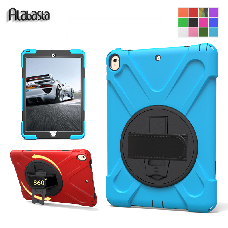 Alabasta For fundas iPad Pro 10.5 Case Rotating Hand Strap 360 Degree Rotation Stand Shell Pc + Silicone Shockproof Armor Stylus alabasta case for new ipad 9 7 2017 case