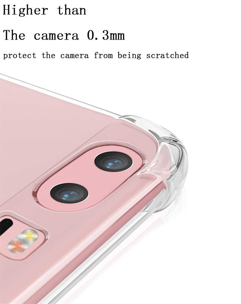 Huawei P20 Pro P10 lite 2017 Mate 9 10 Pro lite Nova 2 2i onur 6A 6X7X9 6C 8 Pro durumda darbeye dayanıklı TPU şeffaf silikon kılıfları