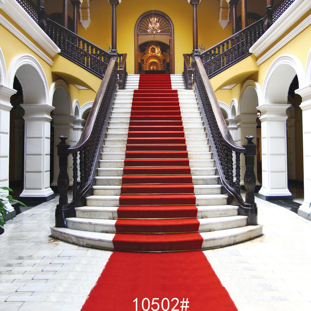 Christmas Red Carpet Photography Backdrops Stairs Photo Studio Background