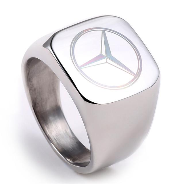 Stainless Steel Mercedez Logo Rings (3 Types)