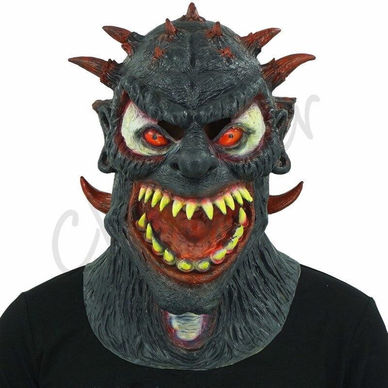 Terrible masque diable noir Halloween fête adulte déguisements