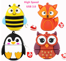 new arrival  8GB 16GB 32GB 64GB pendrive silicone Mini Owl / robot usb  3.0 flash drive Pen drive Memory stick lovely U Disk top
