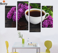 4 Panels Modern Wall Painting Coffee Kitchen Still Life Home Decorative Art Picture Prints On Canvas HD image No frame F18893