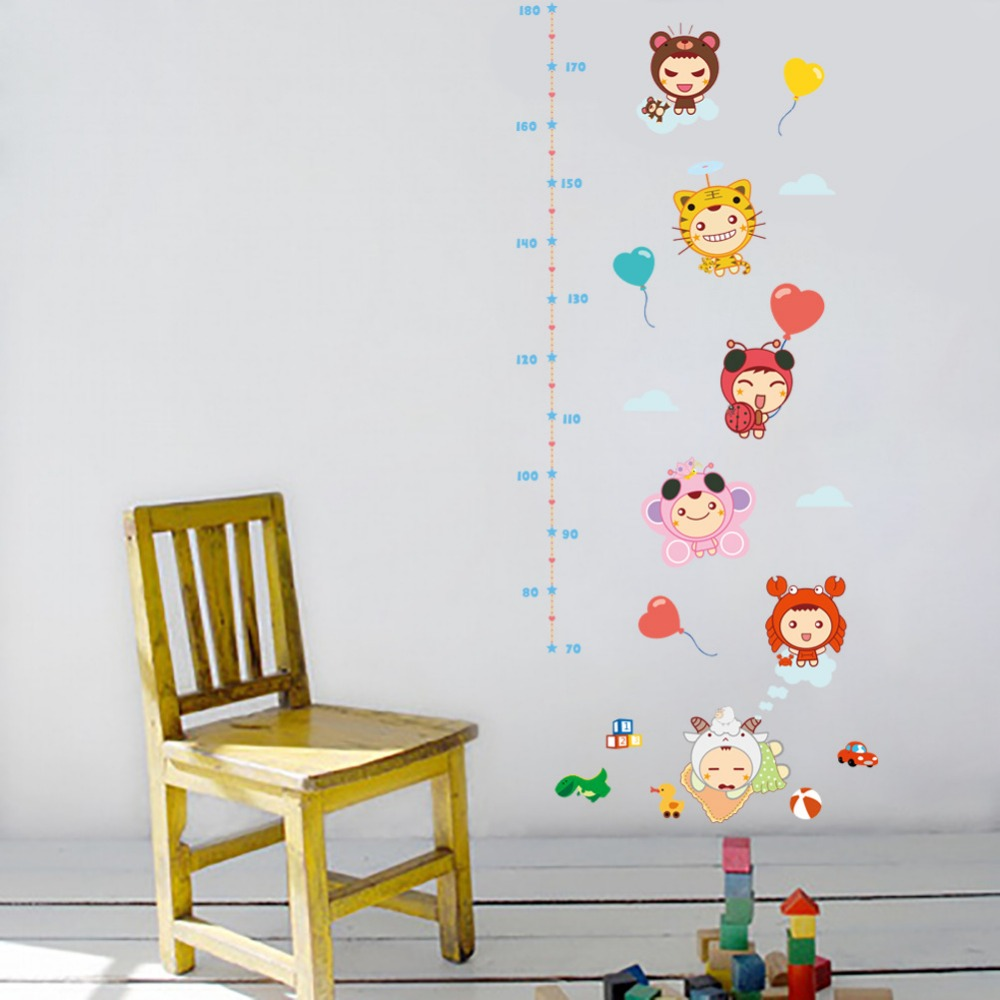 Cartoon animal toy height measure wall sticker for kids rooms growth cartoon animal toy height measure wall sticker for kids rooms growth chart home decor wall art pvc decal girls gift in wall stickers from home garden nvjuhfo Gallery