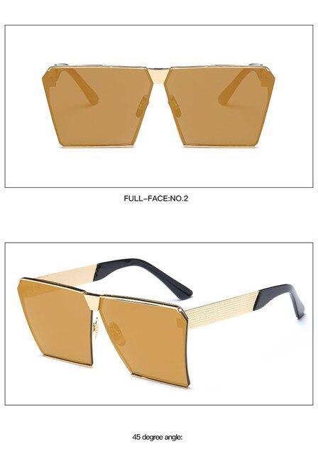 30467fc0a9 ... Cuadradas Mujeres Diseñador de la Marca de Metal UNISEX Para Hombre de  Gran Tamaño Gafas de Sol de Espejo Lente Fresco GD0019. Previous. Next