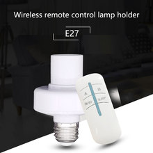 Max 50W 30m E27 220V Screw Wireless Remote Control Light Lamp Bulb Holder Cap Socket Switch On Off Sleep(China)