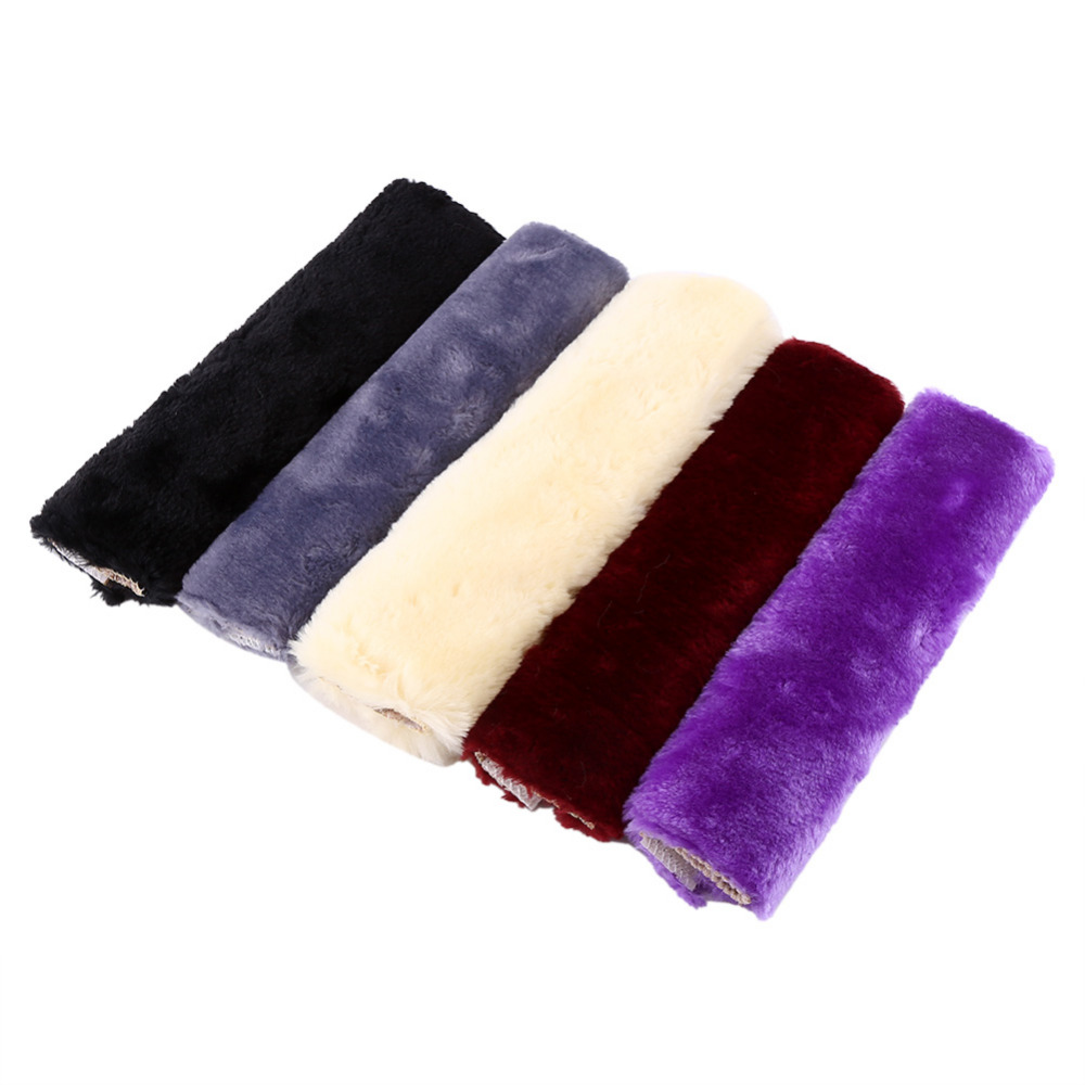 1Pair Plush Car Safety Seat Harness Cover Strap Wrap Belt Soft Shoulder Pad Black/Burgundy/Gray/Beige/Purple