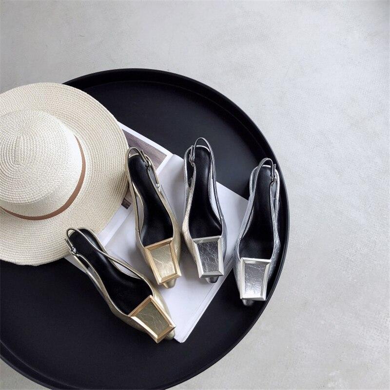 2019 Bout D'été Boucle Élégante Chaussures Talon Mode Femmes Partie Argent Or Pour Grande Sandales argent Or Femme Pointu Étrange Taille Msstor xIWdZwqFF