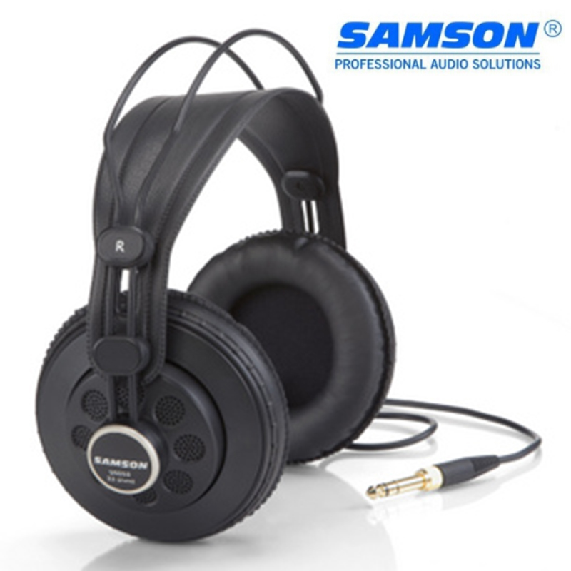 Hot Samson SR850 Semi-Open-Back Studio Reference Headphones Wide Dynamic Professional Monitor Headset for Maximum Iisolation image