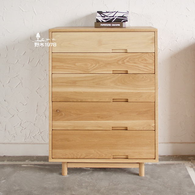Simple Hand Wood Chest Of Drawers Bedroom Closet Doo Cabinet Storage Lockers