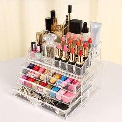 Акриловый Органайзер для макияжа, косметическая коробка, коробка для хранения губной помады, шкатулка для косметики, ящики для хранения, ди...