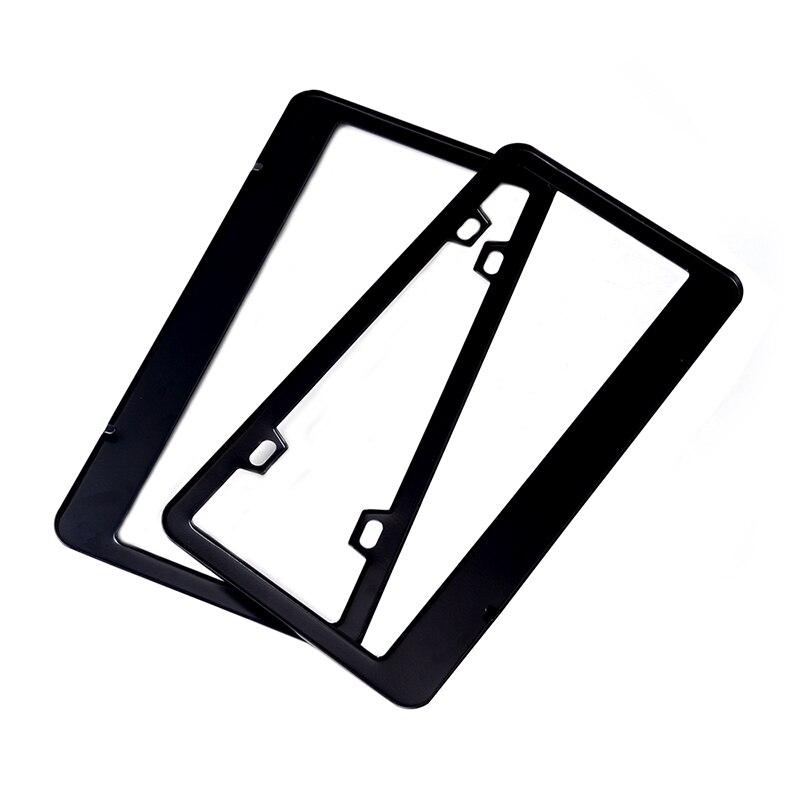 ESPEEDER 2 piezas acero inoxidable marco titular de la cubierta de ...