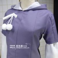 HOT Animation Naruto Bruto Hinata Cosplay Costume Short Top Hoodies Coat