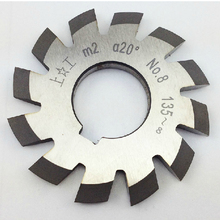 M2 Module HSS gear milling cutter Pressure Angle of 20 degrees 1#-8# 8pcs/lot TOOL