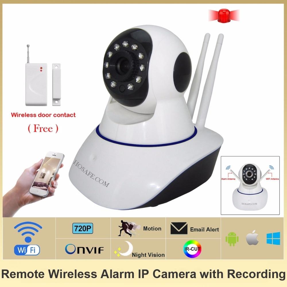 HOSAFE SV01 CMOS 1.0MP Home Security IP Camera w/ 11 IR LED / Door&Window Sensor / TF Wireless ...