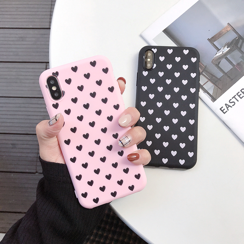 For <font><b>OPPO</b></font> F1S F1 F3 Plus F5 F7 <font><b>F9</b></font> F11 Pro A3S A5 A7 A37 A57 A71 A73 A83 Realme 1 2 <font><b>Case</b></font> Couple Love Heart Silicone Cover image