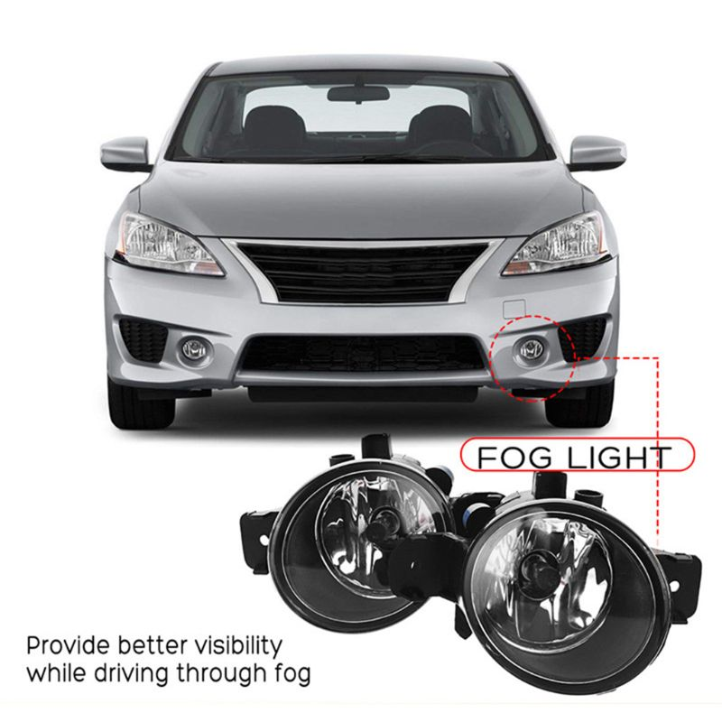 1 Pair RH LH Fog Lights w H11 Bulbs For Nissan Altima Maxima Rogue Sentra Clear in Car Headlight Bulbs LED from Automobiles Motorcycles