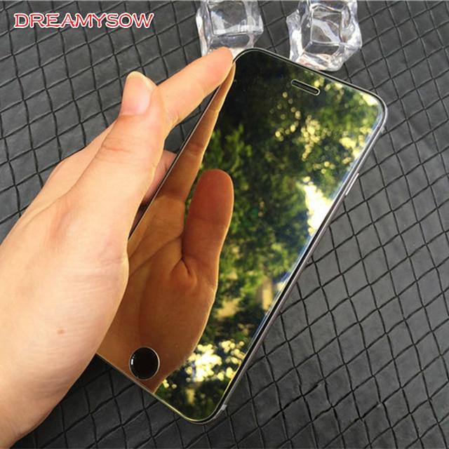 Красочные милые зеркало из закаленного стекла экран протектор для iPhone 7 6 6 S плюс 5 5S SE 5C 8 XS R полное покрытие 9 H защитный плёнки чехол
