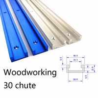 Aluminium Legierung T-track-Slot Gehrung Track Jig Leuchte für Router Tisch Bandsaws Holzbearbeitung DIY Werkzeug Länge 300/ 400/500/600/800MM