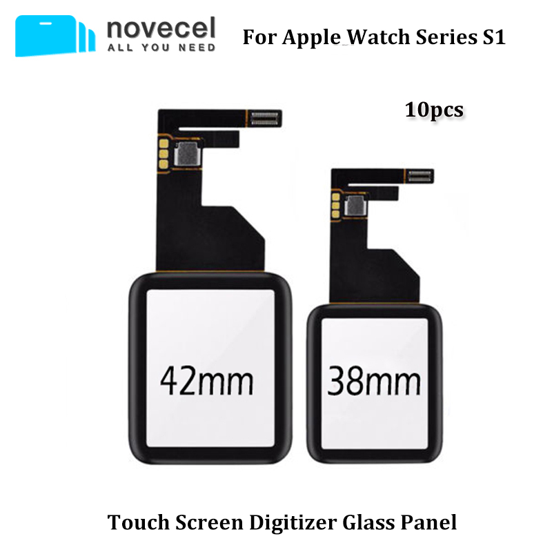 10pcs/lot <font><b>Touch</b></font> <font><b>Screen</b></font> Digitizer Glass Panel for <font><b>Apple</b></font> <font><b>Watch</b></font> Series 1 38mm <font><b>42mm</b></font> <font><b>Touch</b></font> <font><b>Screen</b></font> Outer Cracked Glass <font><b>Replacement</b></font> image