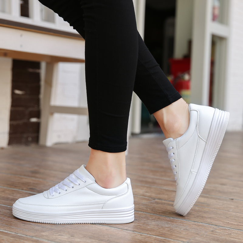 03b2e59b26fbd ... up Lace Spring Sneakers Women Casual Summer Ladies Soft Shoes Leather  Women Flat Split Shoes Leather