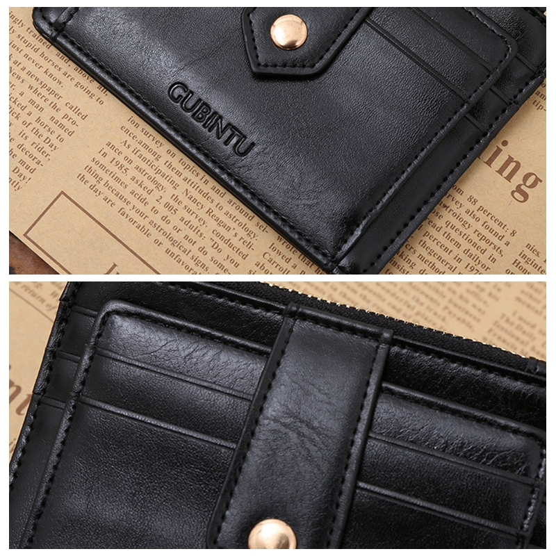 Multifunctional Zipper Leather Business Card Case Credit Card ...