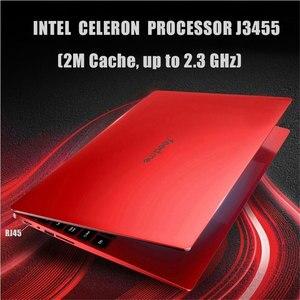 Image 2 - 노트북 15.6 인치 6 gb ram 노트북 j3455 쿼드 코어 1080 p ips windows 10 전체 레이아웃 키보드 블루투스 4.0 패션 레드 rj45