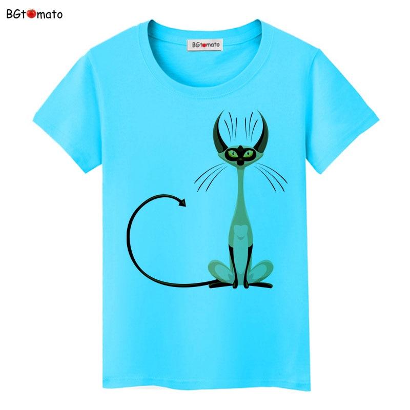 BGtomato super cool elegant cat t shirt women hot sale clothes lovely tshirt fashion top tees t-shirt Brand kawaii shirt 11