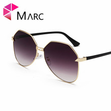 MARC 2019 Sunglass Retro Women Eyewear UV400 Sunglasses Metal Trend Pilot Gradient fashion Pink Gray Female Glasses
